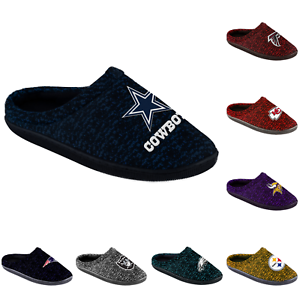 01c56c68a9a Image is loading NFL-Football-Mens-Poly-Knit-Cup-Sole-Slippers-