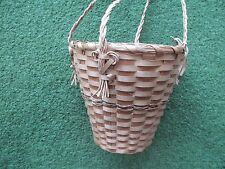 Native American Mohawk Basket by Theresa Peters Vintage Pre-1979 Hanging Basket