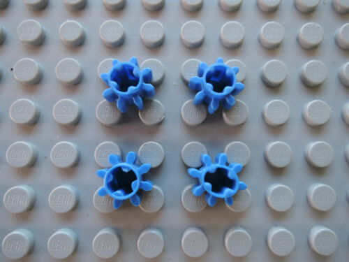 Lego 4 x Technic Zahnrad 3647 blau 8 Zähne