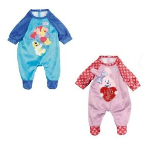 Zapf-Creation-Baby-Born-Doll-Dolls-Romper-Outfit-For-39-43cm-Dolls-Pink-Blue