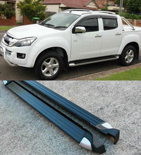 Running Boards Side Steps For Holden Colorado DX RG Matte Black Double Crew Cab