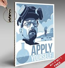 BREAKING BAD POSTER Apply Yourself 30X21cm Thickboarded Photo BE COOL GREAT GIFT