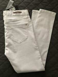 Ladies-River-Island-White-Superskinny-Amelie-Mid-Rise-Jeans-Size-14-Short-Leg