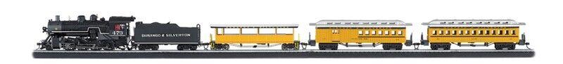 HO Durango & argentodeon modellolo Train Set Ready To correre 47″ x 38″ oval