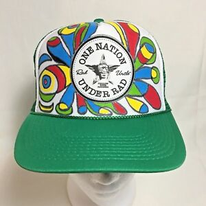 Rad Uncle Trucker Hat SnapBack Foam Mesh Graffiti Custom Rad Human ... 2ddb121dccd9