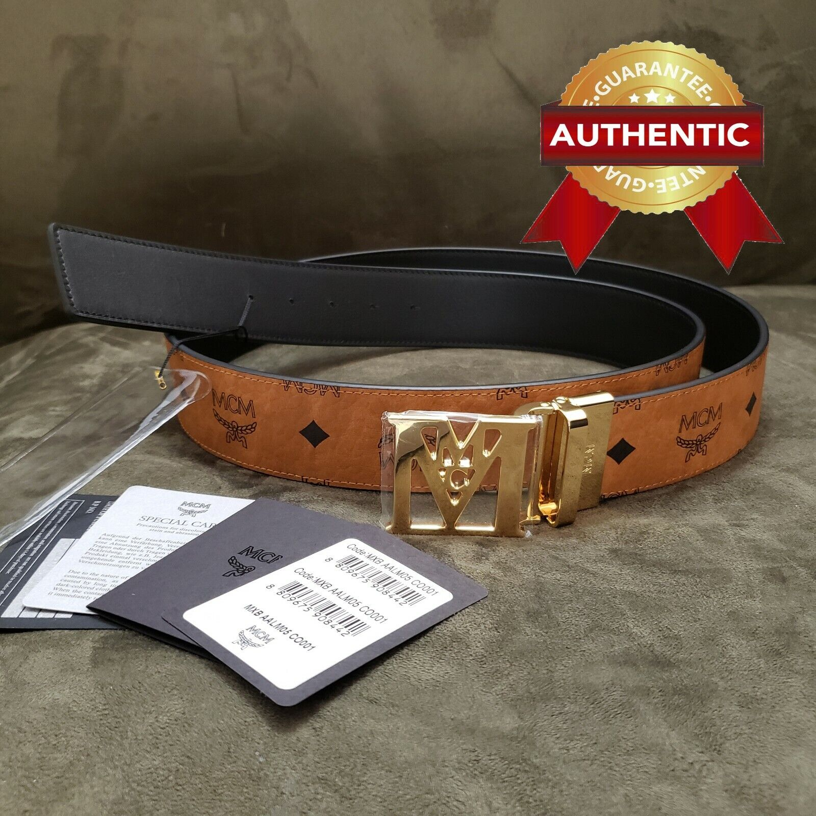 NEW Authentic MCM Belt 1 3/4
