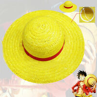 Top Anime One Piece Monkey D Luffy Straw Hat Elastic Ribbon Classic Cosplay Gift