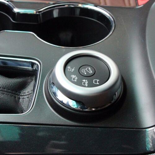 ABS chrome control button key decorative cover trim for Ford Explorer 2011-2017