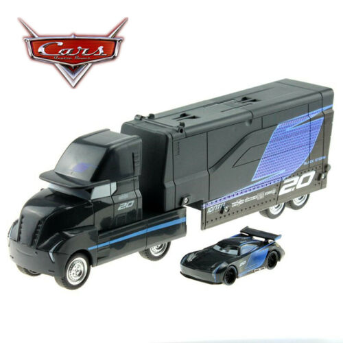 Disney Pixar Cars Jackson Storm Truck Trailer /& Racer 2pcs Metal Cars New Loose