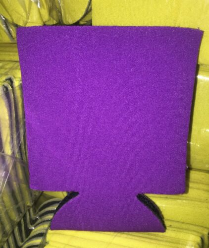 50 GRAPE Collapsable Can Coozie Blank Lot NEW Screen print Birthday