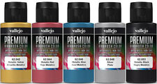 Vallejo Airbrush Premium Farben Set 5x 60ml *Metallic Airbrushfarben Acrylfarben