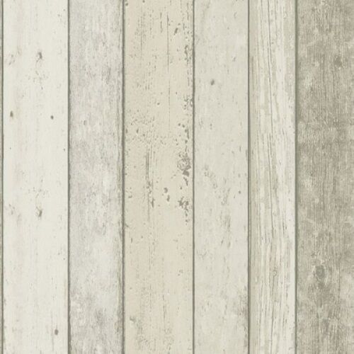 FREE POST Planks Cream Wood Timber Rustic Wallpaper sample size or double rolls