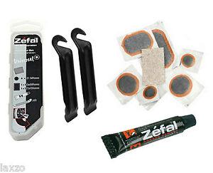Zefal-universel-BICYCLETTE-PNEU-CREVAISON-Kit-de-reparation-avec-Leviers-et