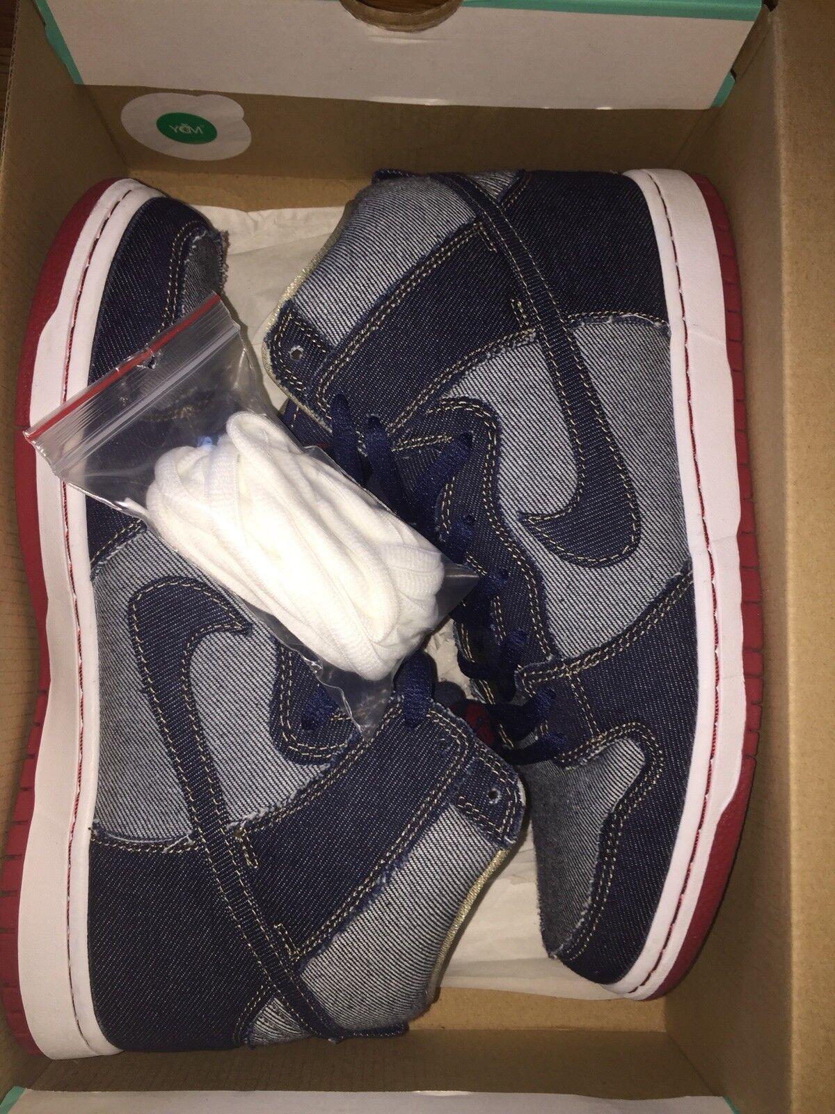 Nike SB QS Reese Forbes Denim Dunk High Size 10