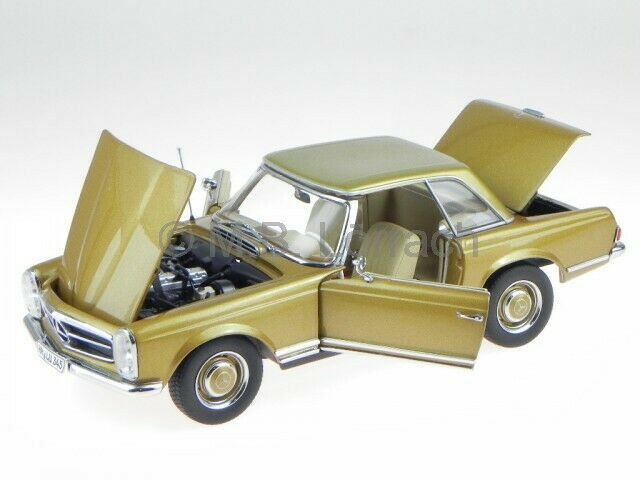 Mercedes R113 230 SL Pagode 1963 HT Gold Modelauto 183503 Norev 1 18
