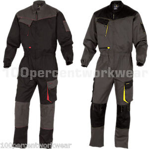 Delta-Plus-DMCOM-Mens-Work-Overalls-Boiler-Suit-Coveralls-Knee-Pockets-Mechanics