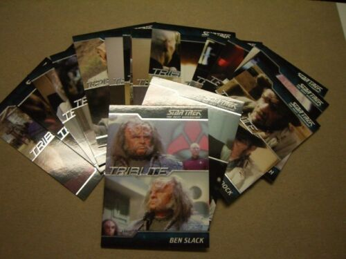 Complete Star Trek The Next Generation Series 2 18 Card Tribute Set TNG