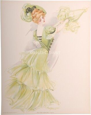 New York Show Girl 1907 Victorian Color Litho Print Chromolithograph Daly/'s