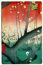 2 Reproducción Japonés Bloques De Madera Estampado Juego Ando Utagawa Hiroshige