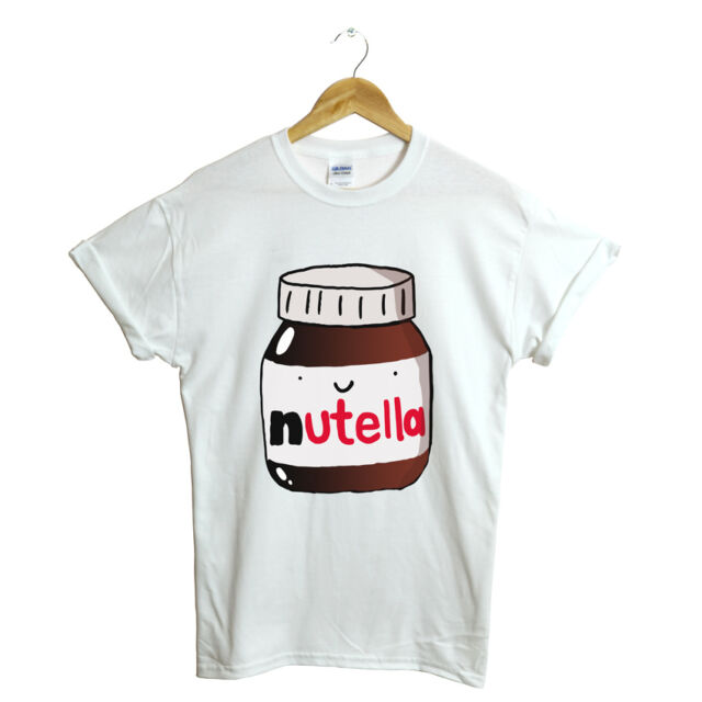 NUTELLA TSHIRT CUTE SWAG HIPSTER FUNNY CHOCOLATE TOP FRESH TUMBLR DOPE GIFT