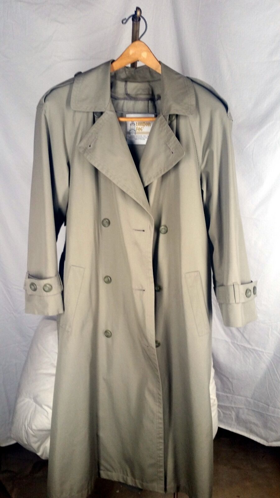 Vintage belted London Fog thinsulate trench coat - removable insulation 6 r