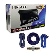 Kenwood Kac-9106d Mono Subwoofer Amplifier 1000 Watts RMS Amp Install Kit