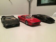 Lotto Macchinine 1/18 Polistil, Burago. Ferrari GTO, Lamborghini Countach/Diablo