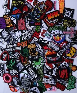 Random-Lot-of-20-Rock-Band-Patches-Iron-on-Music-Punk-Roll-Heavy-Metal-Sew