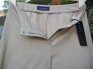 """Piazza Sempione """"MARILYN"""" Lightweight WooL Taupe Wide Leg Pants IT42/US 6 Nwt"""