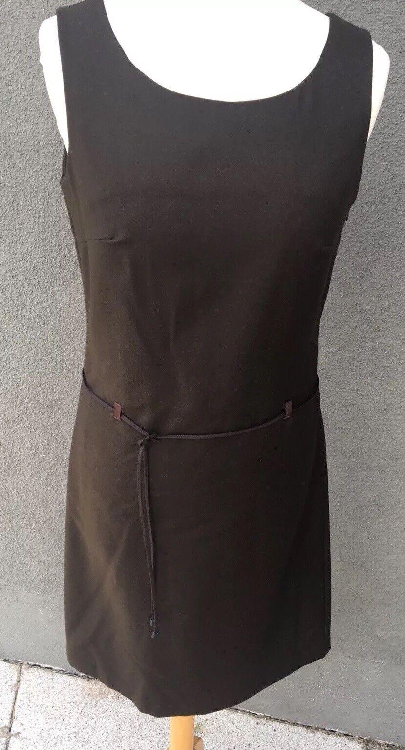 Kleid Damen Benetton braun mit Details Gr. XS NEU und ungetragen