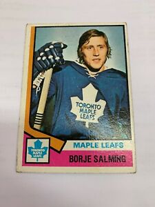 1974-75-O-Pee-Chee-180-Borje-Salming-maple-Leafs-Rookie-VG-EX