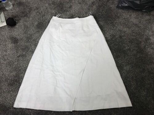 M/&s Femmes Blanc Mélange De Lin Jupe doublée-Taille 12 Bnwt Même Jour gratuites d/'affranchissement