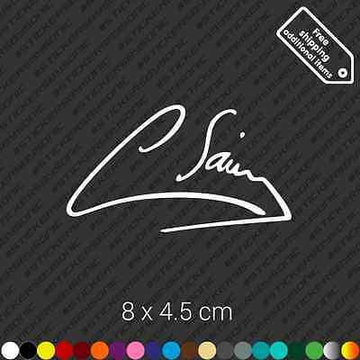 White Carlos Sainz signature car sticker Toyota Celica Supra wrc decal vinyl