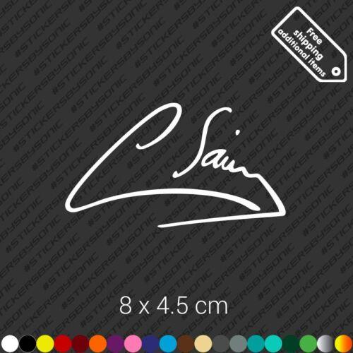 Carlos Sainz signature car sticker Toyota Celica Supra wrc decal vinyl White
