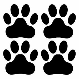 Details about 4x Dog Cat Paw Print Tracks Sticker Vinyl Window Laptop
