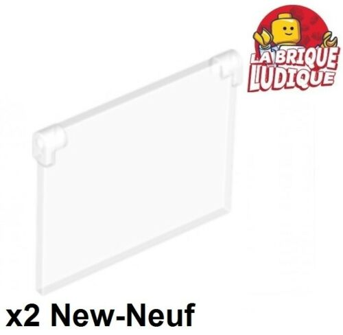 Lego 2x Glass Window 1x4x3 Flap Opening Trans Clear 60603 New