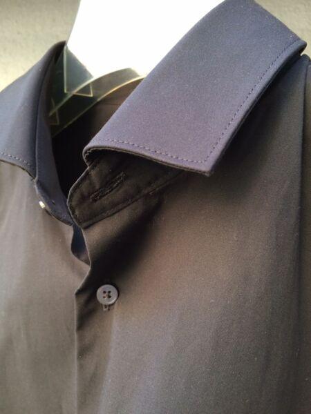 Fiducioso Pure Camicia, Body Fit, Nero, Tg. S, Nuovo