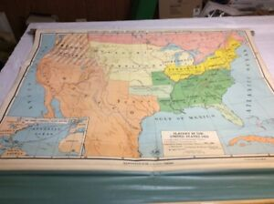 NYSTROM Slavery In United States In 1821 Pull Down Classroom Map ...