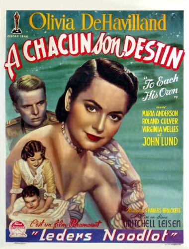 To each his own Olivia DeHavilland movie poster #2