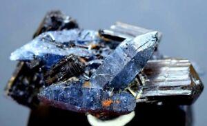 Terminated-Damage-Free-Black-Tourmaline-Crystals-with-Blue-Quartz-Crystals-92g