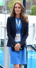 New $885 Stella Mccartney Ridley Stretch Cady Blue Dress UK 8 10 /US 4 6 / IT 42