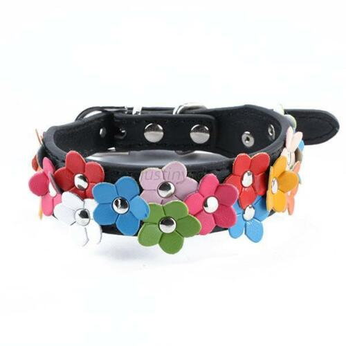 Adjustable PU Leather Small Pet Dog Cat Collar Puppy Multi-Styles Collars Decor