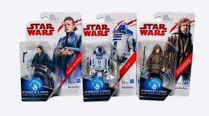 Star Wars Force Link  Luke Skywalker R2-D2 General Leia Lot of 3