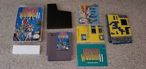 Dragon-Warrior-II-ii-2-Nintendo-NES-RPG-Game-Complete-CIB-Box-Map-Manual-lot