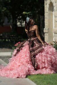Ruffled Charro Quinceanera Dress