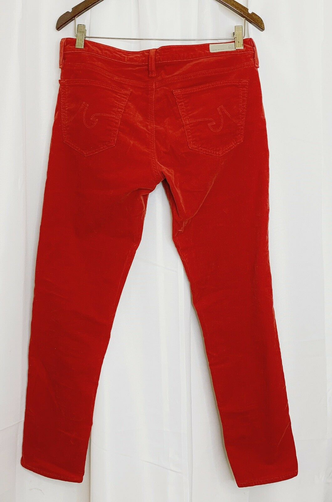 AG Adriano goldschmied The Stevie Ankle Slim Straight Leg Red Womens Sz. 30R