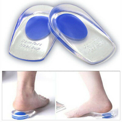 Unisex Silicona Gel Tacón Plantillas Confort Taza Almohadilla Cojín Insertos Suela Zapatos UK