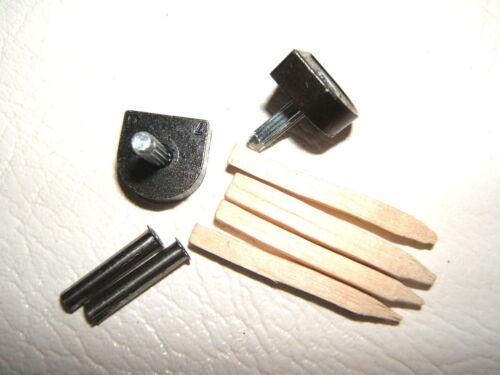 PAIR 3/8 9.5mm 115 pin BLACK METAL STILETTO HIGH HEEL SHOE TOPS TIPS TUBES KIT