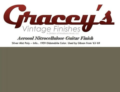 Silvermist Poly Gracey/'s Vintage Finishes Nitrocellulose Guitar Lacquer.