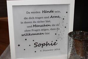 Details Zu Led Bild Geburt Taufe Geschenk Baby Name Patenschaft Sterne Beleuchtet Mit Timer
